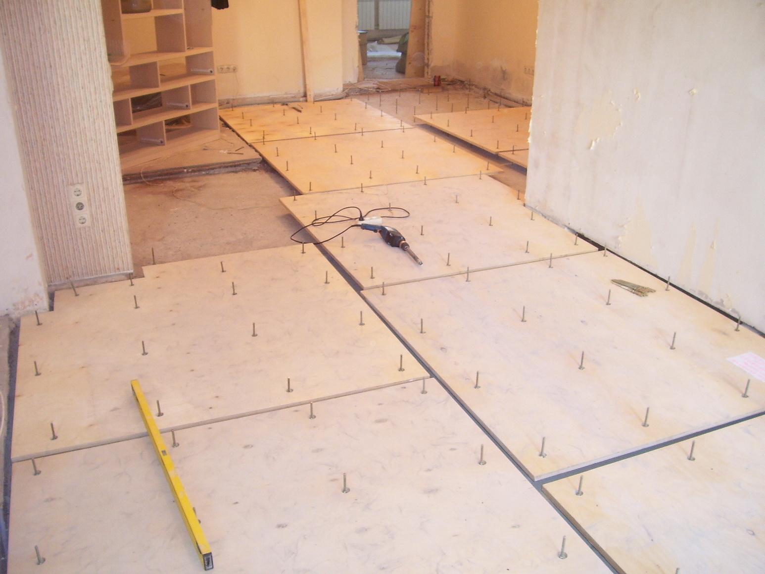 Дсп на бетонный пол своими руками
